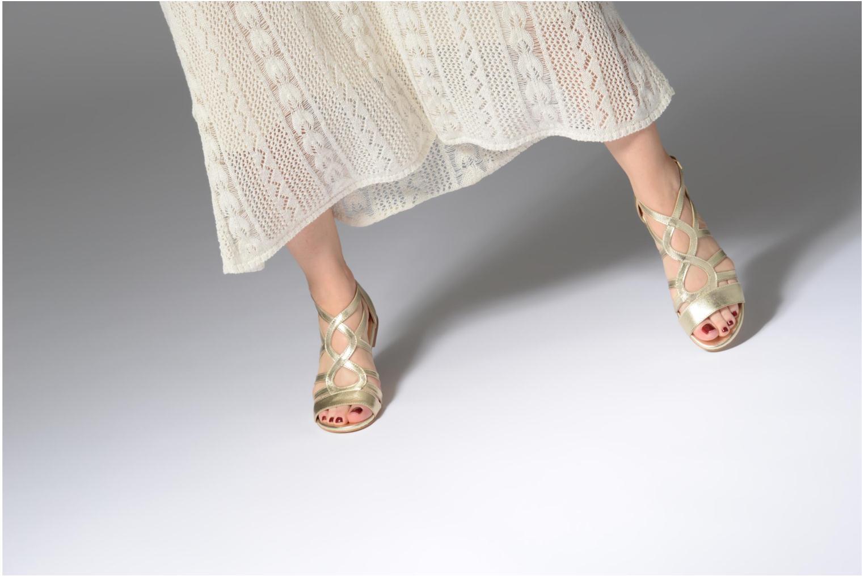 Sandales et nu-pieds Georgia Rose Stephou Or et bronze vue bas / vue portée sac