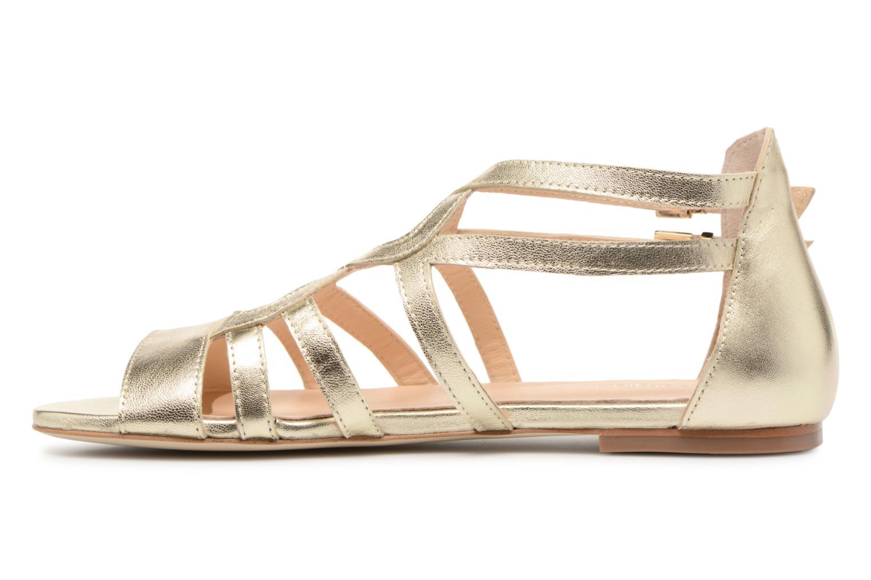 Sandales et nu-pieds Georgia Rose Stephou Or et bronze vue face