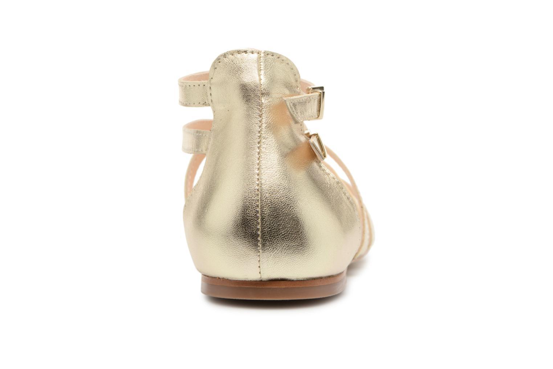 Sandales et nu-pieds Georgia Rose Stephou Or et bronze vue droite