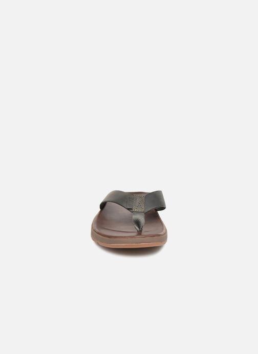 Tongs Reef CONTOURED VOYAGE LE Marron vue portées chaussures