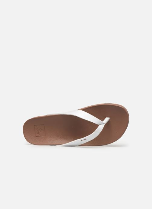 Chanclas Reef CUSHION BOUNCE COURT Blanco vista lateral izquierda