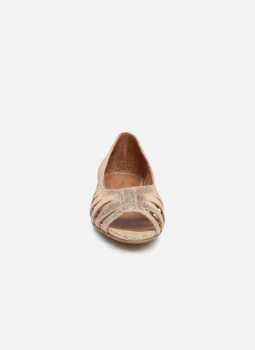 Ballerines Georgia Rose Escagea Or et bronze vue portées chaussures