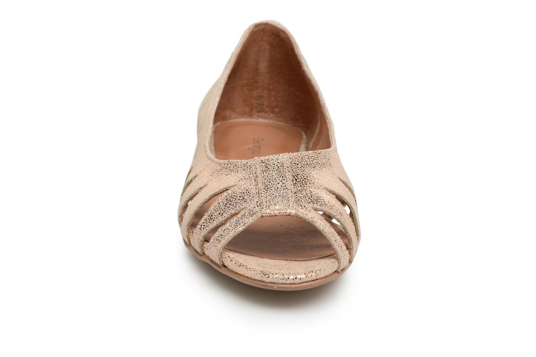 Ballet pumps Georgia Rose Escagea Bronze and Gold model view
