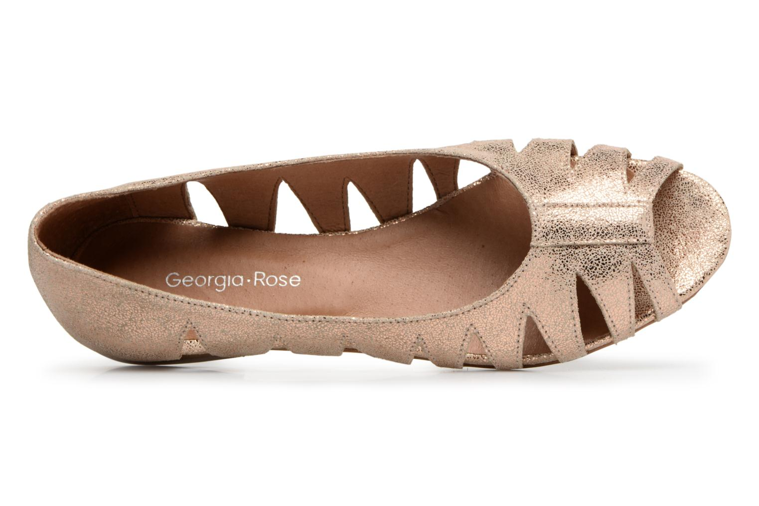 Ballet pumps Georgia Rose Escagea Bronze and Gold view from the left