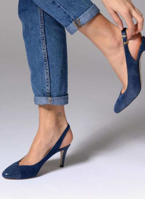 High heels Georgia Rose Elegante Beige view from underneath / model view