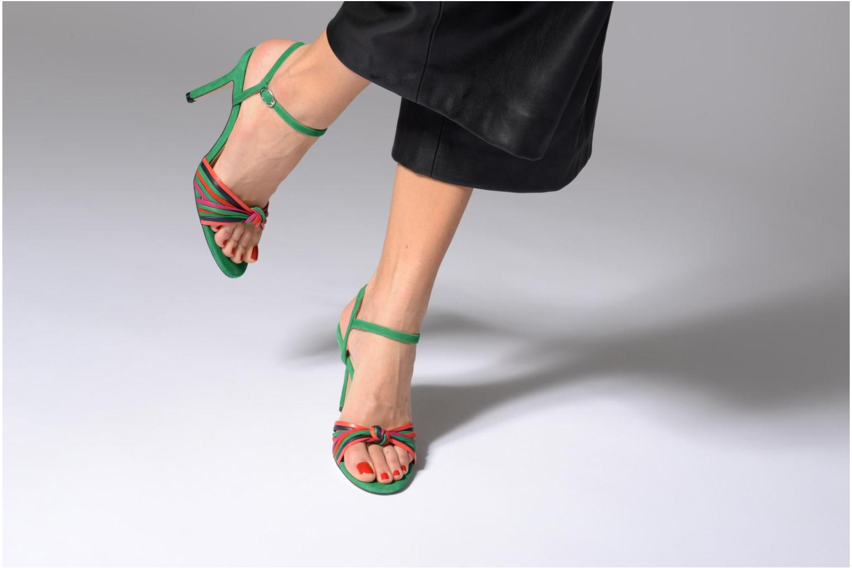 Sandales et nu-pieds Georgia Rose Embrin Vert vue bas / vue portée sac