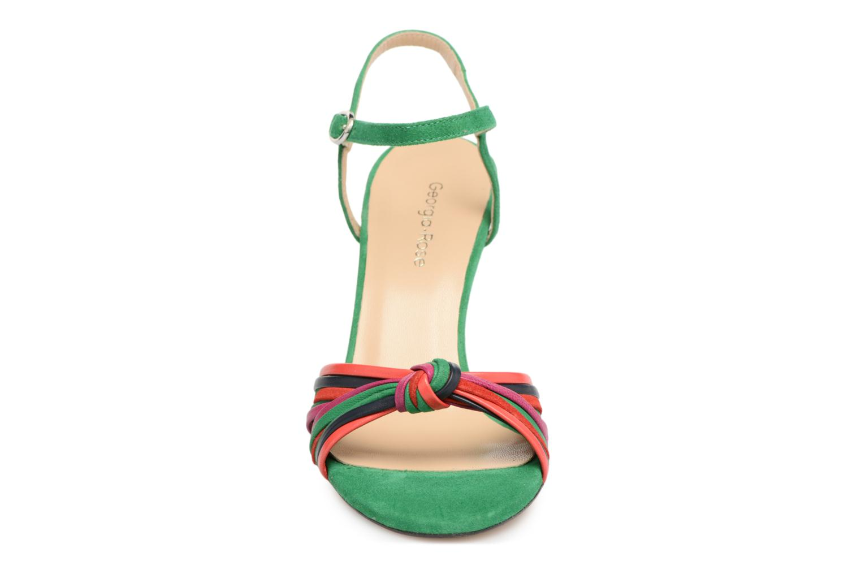 Sandales et nu-pieds Georgia Rose Embrin Vert vue portées chaussures