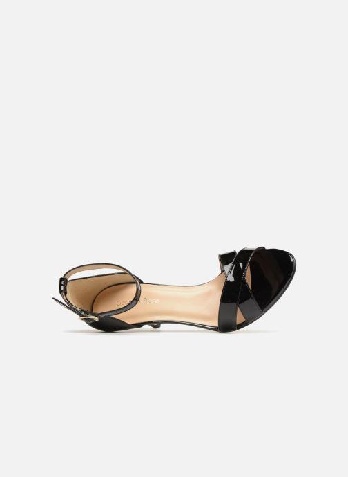 Sandales et nu-pieds Georgia Rose Ecrin Noir vue gauche