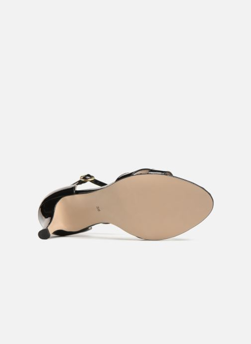 Sandales et nu-pieds Georgia Rose Ecrin Noir vue haut