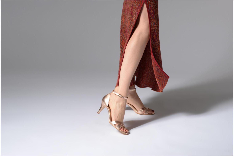 Sandales et nu-pieds Georgia Rose Ecrin Or et bronze vue bas / vue portée sac
