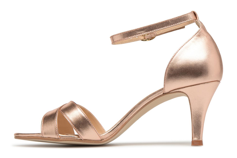 Sandales et nu-pieds Georgia Rose Ecrin Or et bronze vue face