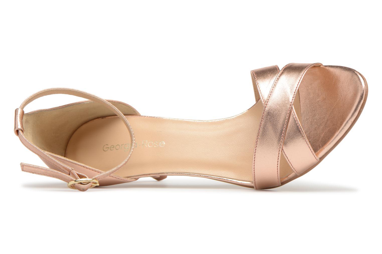 Sandales et nu-pieds Georgia Rose Ecrin Or et bronze vue gauche