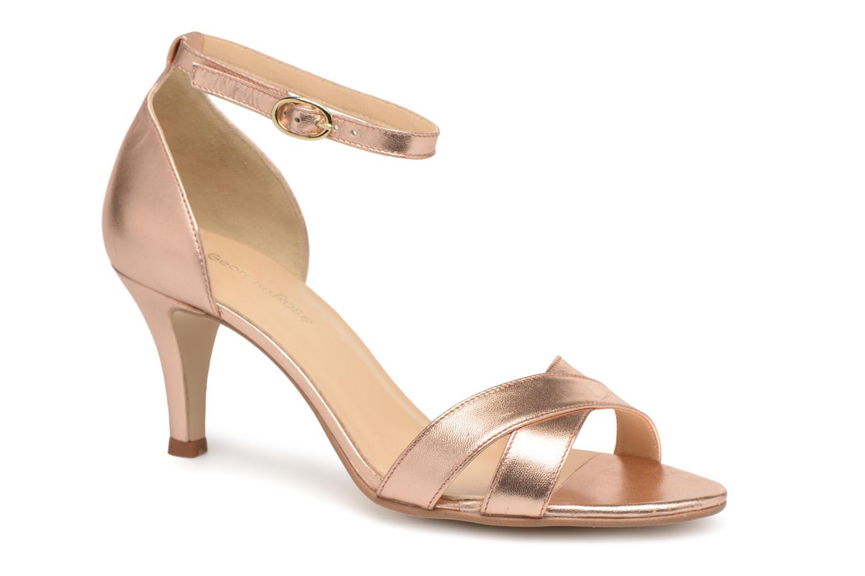 Sandales et nu-pieds Georgia Rose Ecrin Or et bronze vue détail/paire