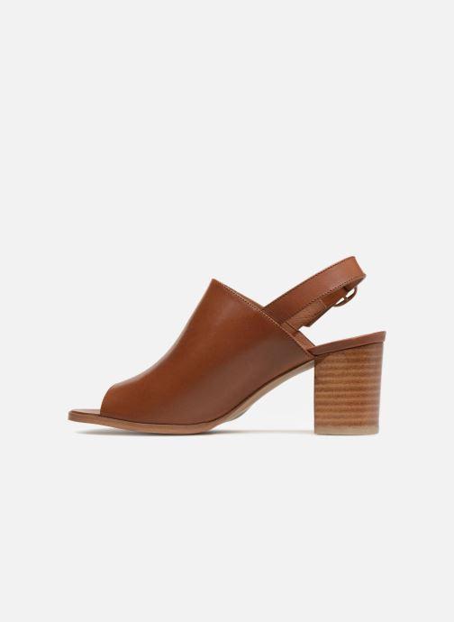 Sandales et nu-pieds Georgia Rose Ezabia Marron vue face
