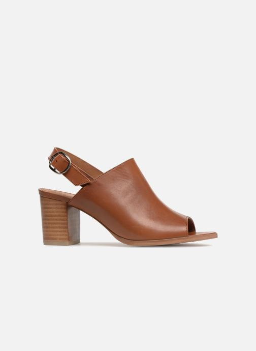 Sandales et nu-pieds Georgia Rose Ezabia Marron vue derrière