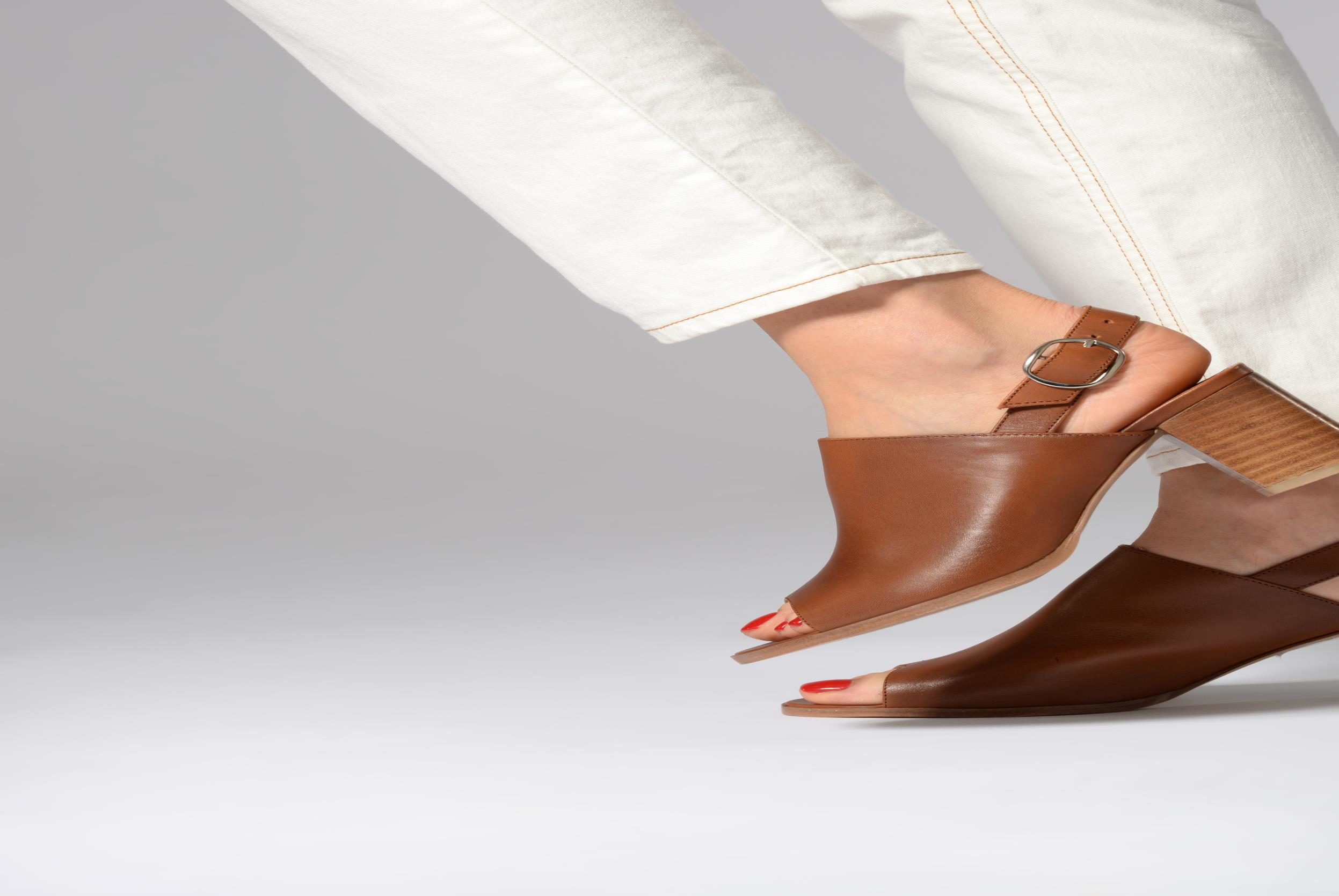 Sandales et nu-pieds Georgia Rose Ezabia Bleu vue bas / vue portée sac