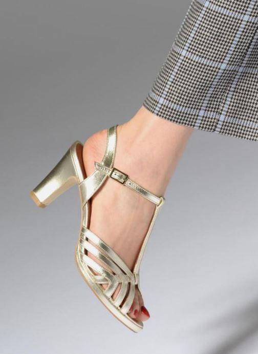 Sandales et nu-pieds Georgia Rose Ebrina Or et bronze vue bas / vue portée sac