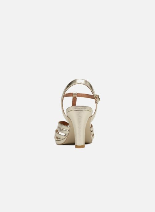 Sandales et nu-pieds Georgia Rose Ebrina Or et bronze vue droite