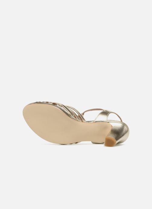 Sandales et nu-pieds Georgia Rose Ebrina Or et bronze vue haut