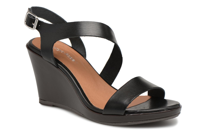 Nuevo - zapatos Georgia Rose Esbloca (Negro) - Nuevo Sandalias en Más cómodo c449ea