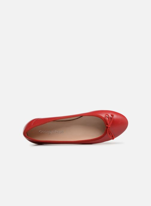 Ballet pumps Georgia Rose Sanoeud Red view from the left