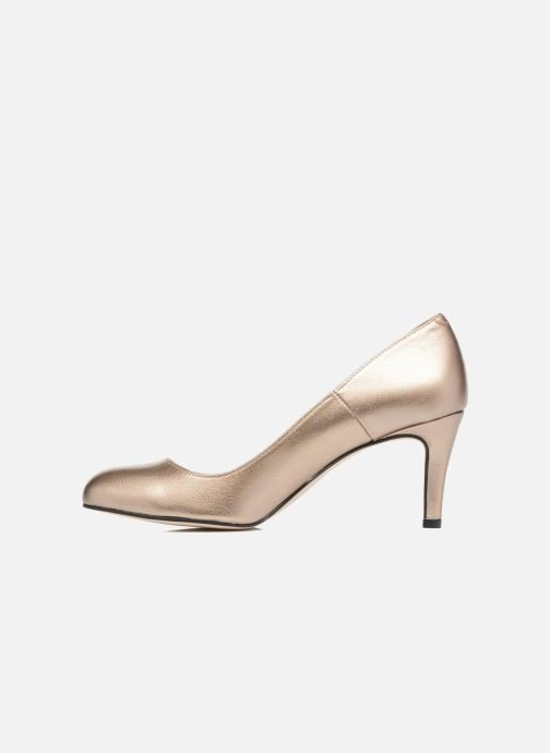 High heels Georgia Rose Selim Bronze and Gold front view