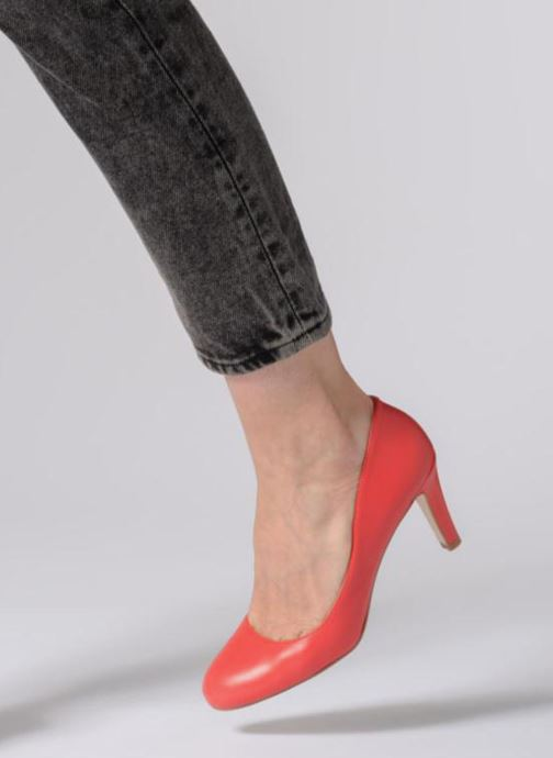 High heels Georgia Rose Selinon Orange view from underneath / model view