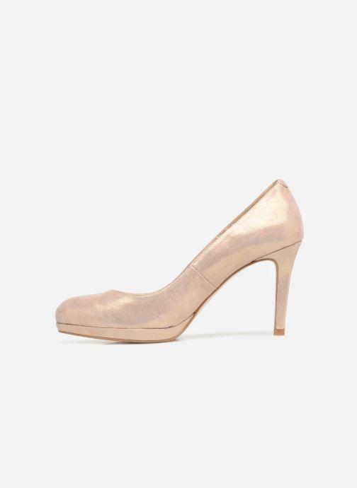 Zapatos de tacón Georgia Rose Serpatin Beige vista de frente