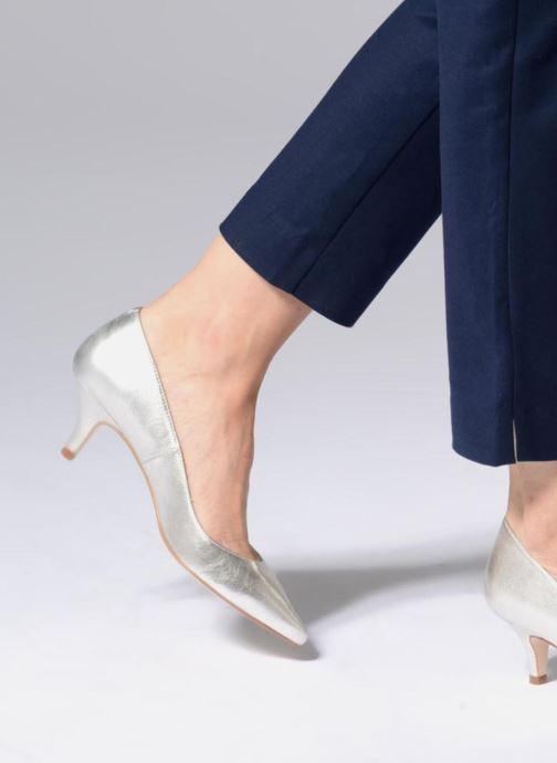 Zapatos de tacón Georgia Rose Svelta Plateado vista de abajo