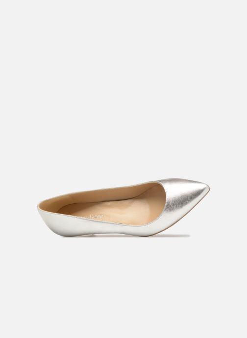 Zapatos de tacón Georgia Rose Svelta Plateado vista lateral izquierda