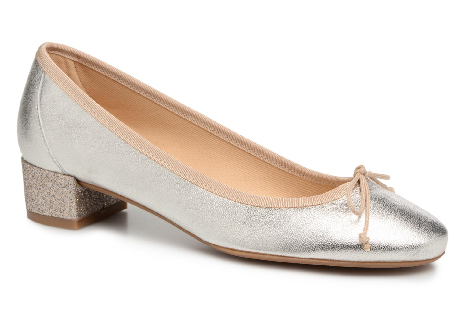 Ballet pumps Georgia Rose Soleil Bronze and Gold detailed view/ Pair view
