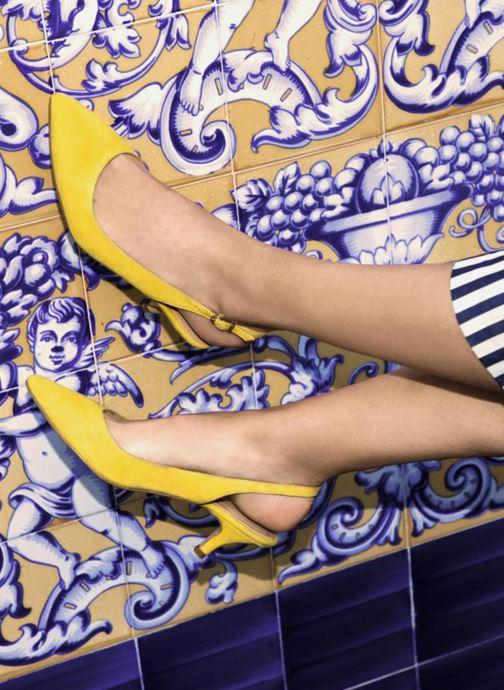 Zapatos de tacón Georgia Rose Sokit Azul vista de abajo