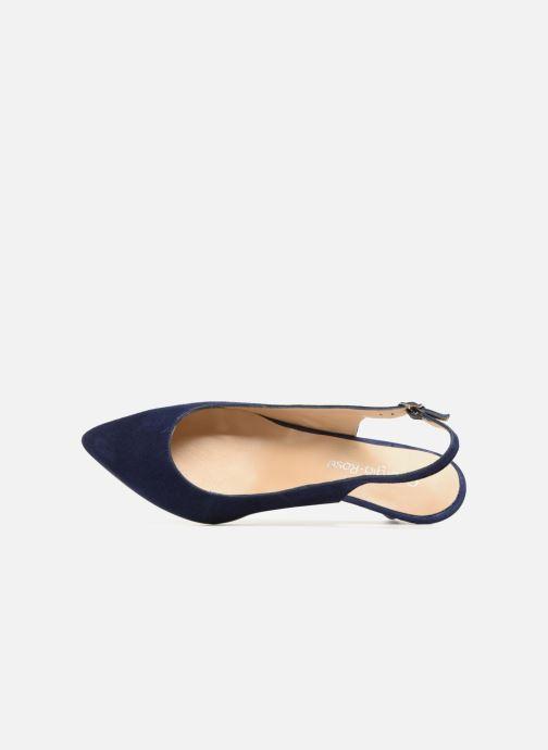 Zapatos de tacón Georgia Rose Sokit Azul vista lateral izquierda