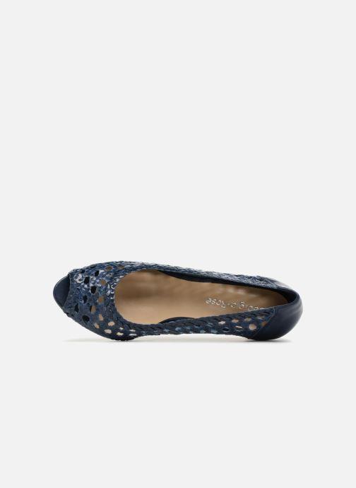 Zapatos de tacón Georgia Rose Sacanvas Azul vista lateral izquierda