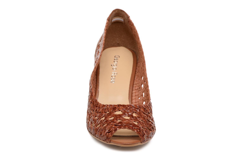 Escarpins Georgia Rose Sacanvas Marron vue portées chaussures