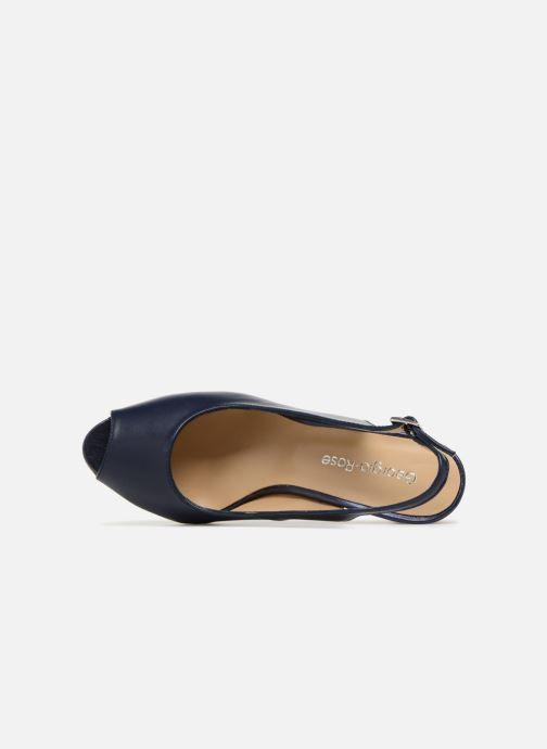 Zapatos de tacón Georgia Rose Soclasse Azul vista lateral izquierda