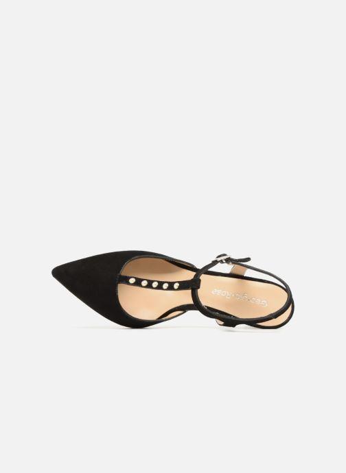 Zapatos de tacón Georgia Rose Soperla Negro vista lateral izquierda