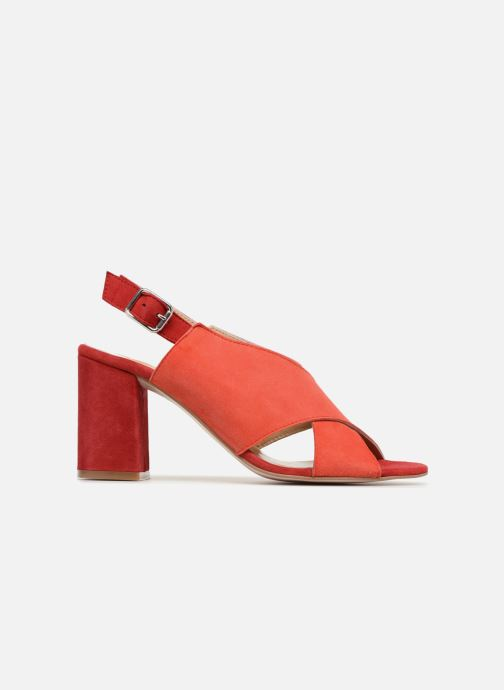 Sandales et nu-pieds Georgia Rose Sofiane Rouge vue derrière