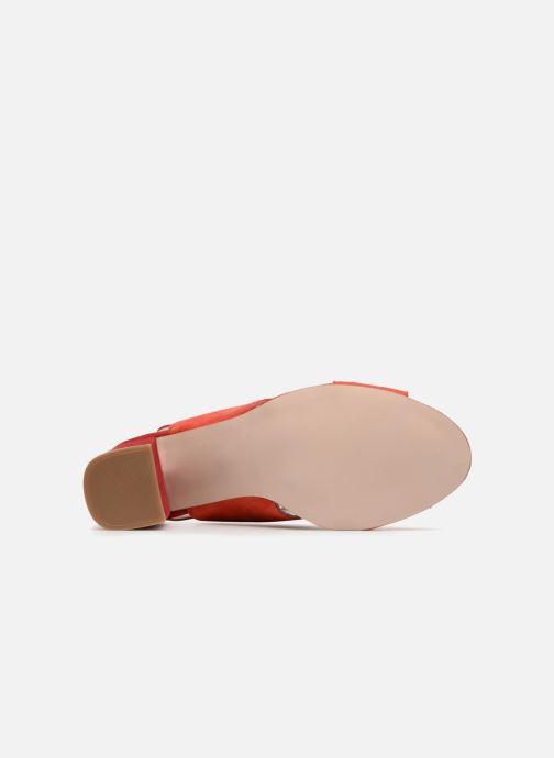 Sandales et nu-pieds Georgia Rose Sofiane Rouge vue haut
