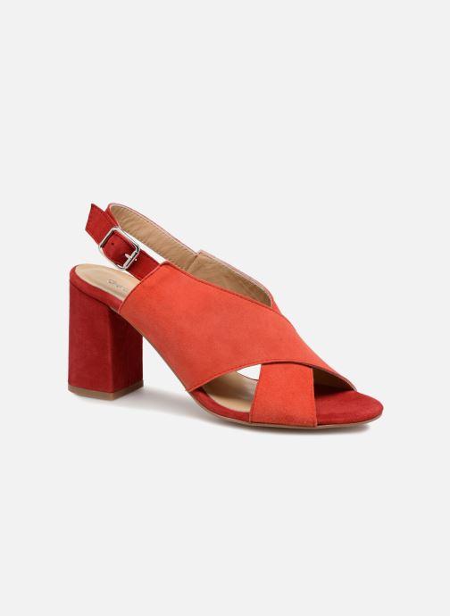 Sandales et nu-pieds Georgia Rose Sofiane Rouge vue détail/paire