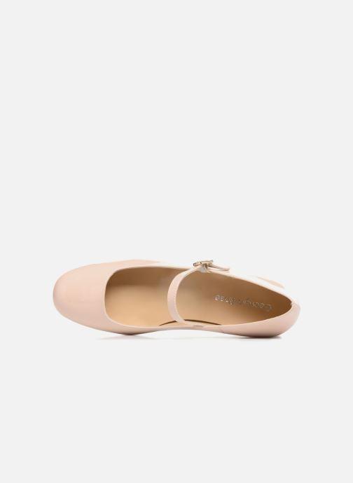 Zapatos de tacón Georgia Rose Socute Beige vista lateral izquierda