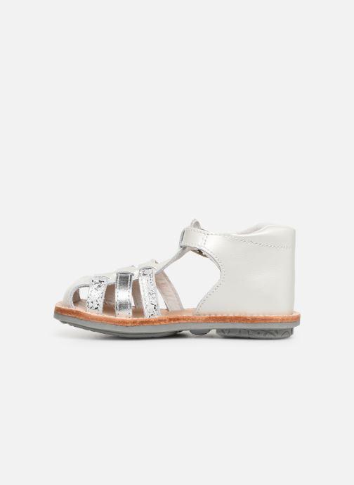 Sandales et nu-pieds Minibel Kegepy Blanc vue face