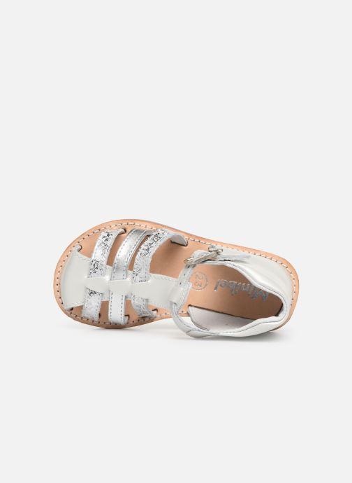 Sandales et nu-pieds Minibel Kegepy Blanc vue gauche