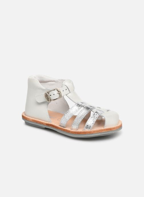 Sandales et nu-pieds Minibel Kegepy Blanc vue détail/paire