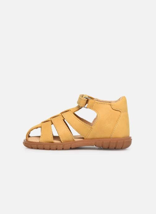 Sandalias Minibel Pavie Amarillo vista de frente