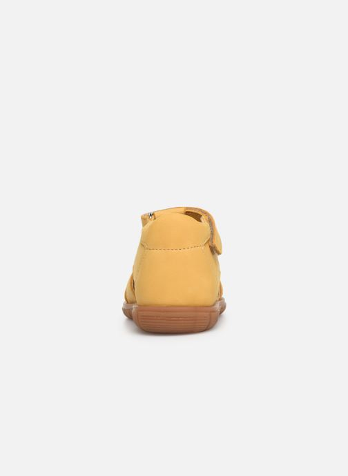 Sandalias Minibel Pavie Amarillo vista lateral derecha