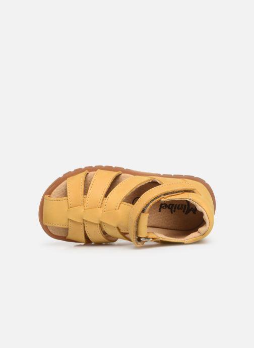 Sandalias Minibel Pavie Amarillo vista lateral izquierda