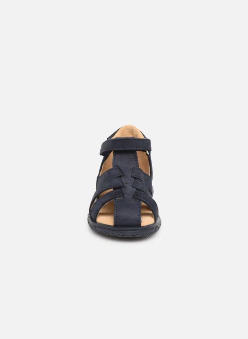 Sandales et nu-pieds Minibel Pavie Bleu vue portées chaussures