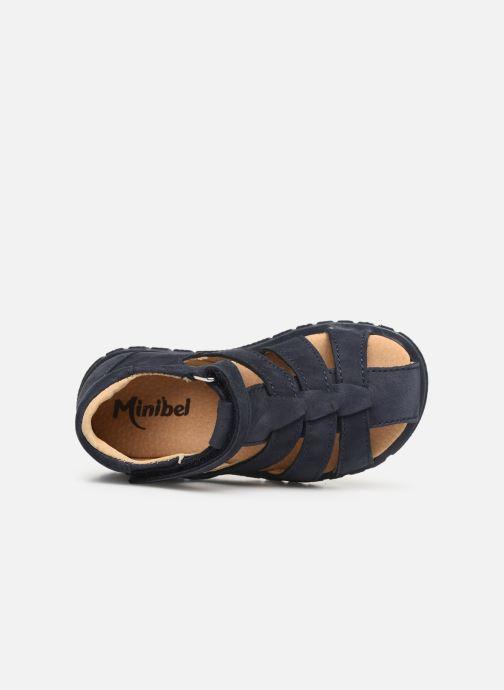 Sandalias Minibel Pavie Azul vista lateral izquierda