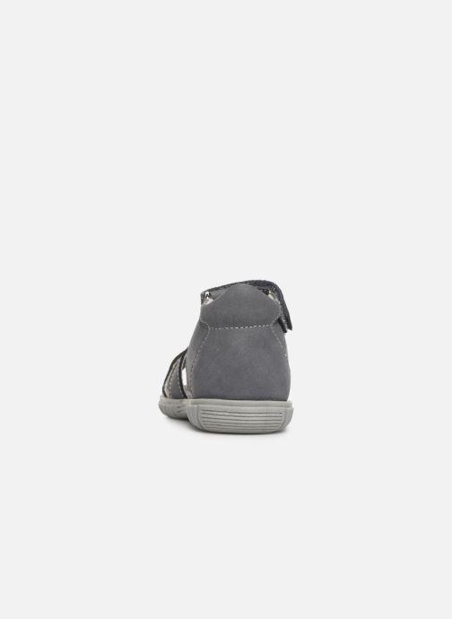 Sandales et nu-pieds Minibel Pavie Gris vue droite